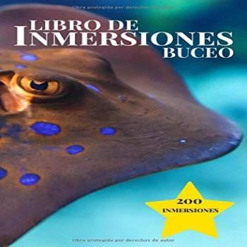Libro de Inmersiones Buceo: Raya | Cuaderno de inmersión para buceadores | 200 inmersiones