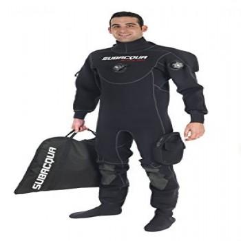 Subacqua Traje Seco Black Dry Sport, Negro, Talla L