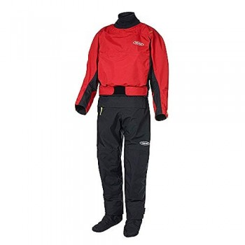 Yak Kayak & Kayaking - Traje Dry Drysuit Horizon Kayak Drysuit - Rojo - Easy Stretch Breathable 3 Layer Dry Suit Waterproof